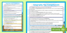 * NEW * Geography Key Competencies Display Poster