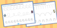 Monster Themed Pencil Control Activity Sheets