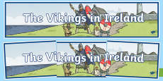 The Vikings in Ireland Display Banner