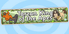 Tarzan King of the Apes Display Banner