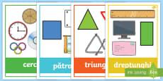 Figuri plane cu exemple din viața cotidiană Planșe