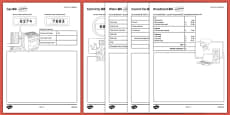 Budget at Home: Bills Bills Bills Activity Sheet Pack GCSE Grades 4-5