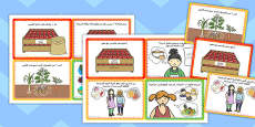 Fruit and Vegetable Shop Role Play Challenge Cards Arabic