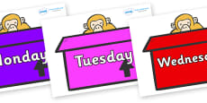 Days of the Week on Monkeys (Box) to Support Teaching on Dear Zoo