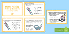 Year 6 Order of Operations Maths Mastery Challenge Cards