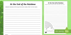The End Of The Rainbow Writing Activity Sheet
