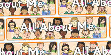 'All About Me' Display Banner