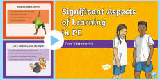 Significant Aspects of Learning in PE - I Can Statements Assessment Tracker