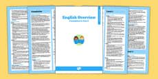 AusVELs Victorian Curriculum Foundation to Level 6 English Overview