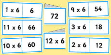 6 Times Tables Folding Cards