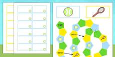Wimbledon Themed Editable Board Game
