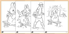 Beatrix Potter - The Story of a Fierce Bad Rabbit Colouring Sheets