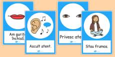Reguli de comportare - Planșe cu imagini și cuvinte