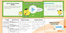 PlanIt Y1 Term 1B Assess and Review Spelling Pack