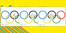 Numbers 0-100 on Olympic Rings