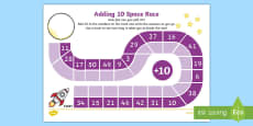 Adding 10 Race Activity Sheet