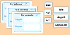 Our Classroom Calendar