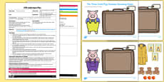 The Three Little Pigs Suitcase Counting Game EYFS Adult Input Plan and Resource Pack