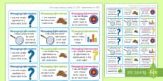 * NEW * NI Thinking Skills and Personal Capabilities Managing Information Success Criteria Stickers
