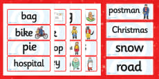 Word Cards to Support Teaching on The Jolly Christmas Postman