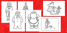 Colouring Sheets to Support Teaching on The Snowman