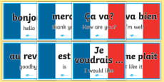 French Word Posters