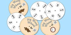 Initial Blends Clusters Phonics Word Wheel