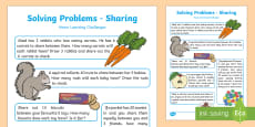 EYFS Maths: Solving Problems – Sharing Home Learning Challenges