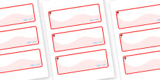 Rose Themed Editable Drawer-Peg-Name Labels (Colourful)