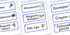Welcome to our class - Teddy Bear Themed Editable Writing Area Resource Labels