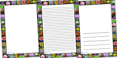 Flower Photo Page Borders