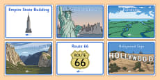 Class Group Table Signs USA American Landmarks