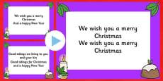 We Wish you a Merry Christmas Christmas Carol Lyrics PowerPoint