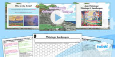 Art and Design: Landscapes and Cityscapes: Metzinger's Colourful Landscapes KS1 Lesson Pack 5
