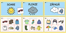 Weather Clothes Sorting Activity Romanian