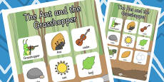 The Ant and the Grasshopper Vocabulary Poster