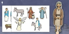 Nativity Themed Stick Puppets