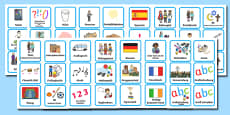 Visual Timetable for KS1 Plain German