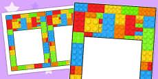Australia - Building Brick Themed Editable Notes