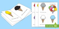 Ice Cream Colors Emergent Reader