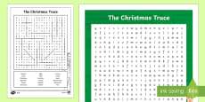 The Christmas Truce 1914 Word Search
