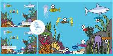 Under the Sea Prepositions Picture Hotspots