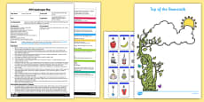 Top of the Beanstalk Writing Activity EYFS Adult Input Plan and Resource Pack