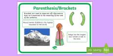 Parenthesis Punctuation Poster