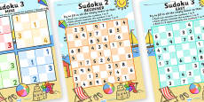 Seaside Sudoku x3