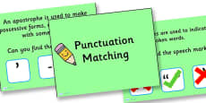 Punctuation Matching PowerPoint Activity