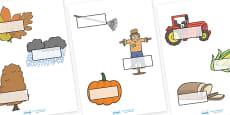Editable Self Registration Labels (Autumn)