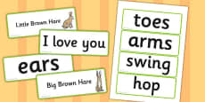 How Much Do I Love You? Word Cards