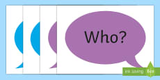 * NEW * Doric Question Words A4 Display Poster