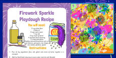 Bonfire Night Playdough Recipe and Mat Pack
